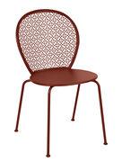 Chaise empilable Lorette Métal perforé Fermob ocre rouge en métal
