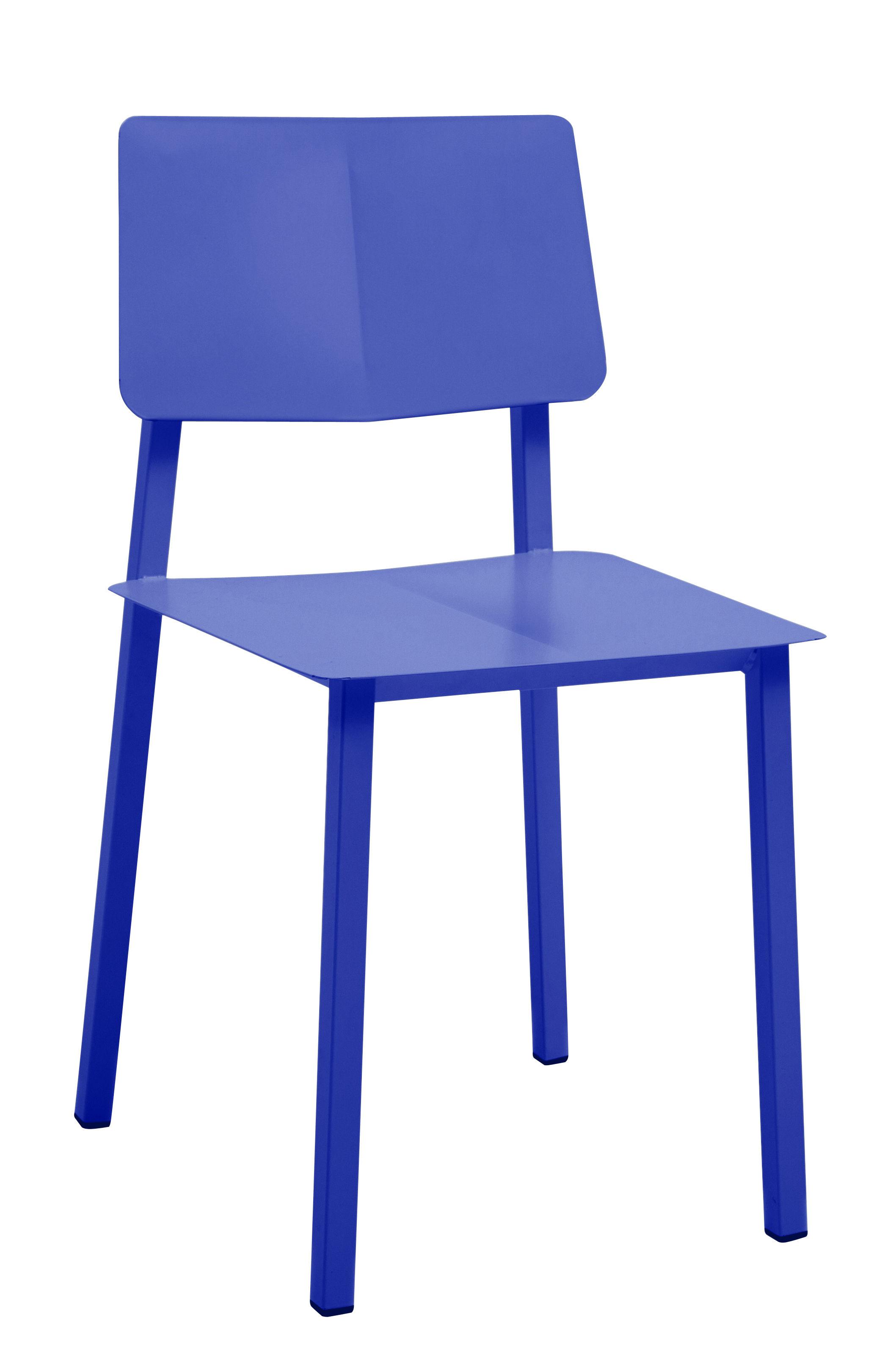 Mobilier - Chaises, fauteuils de salle à manger - Chaise Rosalie - Hartô - Bleu réaliste - Acier