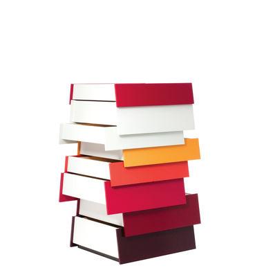 Arredamento - Mobili d'eccezione - Comò Stack - 8 cassetti di Established & Sons - Toni rossi - Acciaio laccato, Compensato di betulla