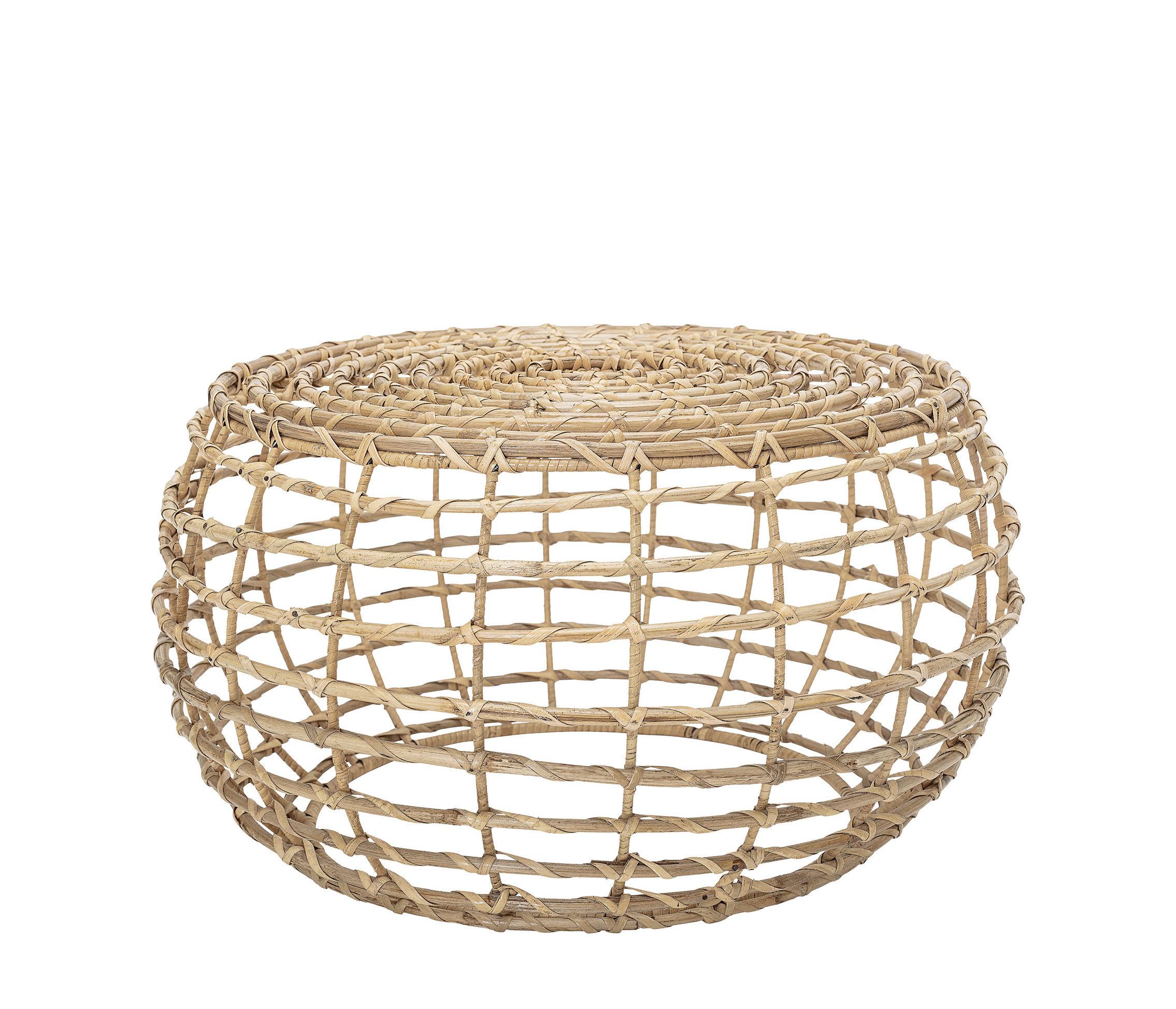 Möbel - Couchtische - Baril Couchtisch / Rattan - Ø 60 cm - Bloomingville - Rattan, natur - Rattan