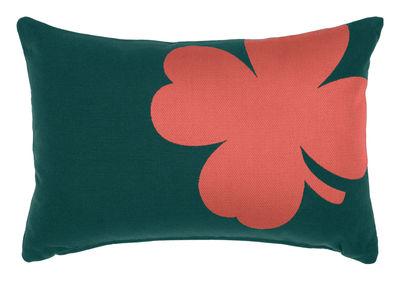Coussin d'extérieur Trèfle / 44 x 30 cm - Pour l'extèrieur - Fermob rouge/orange/vert en tissu