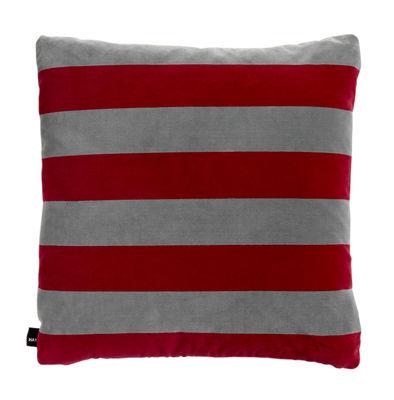 Coussin Soft Stripe / 50 x 50 cm - Velours - Hay fuchsia en tissu