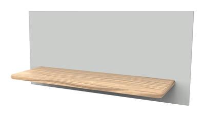 Mobilier - Etagères & bibliothèques - Etagère Marcel n°4 Panneau aimanté - L 70 x H 33 cm - Hartô - Gris clair / Etagère chêne - Chêne massif, MDF laqué et aimanté
