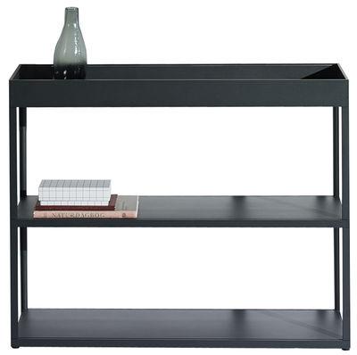 Mobilier - Etagères & bibliothèques - Etagère New  Order / L 100 x H 79,5 cm - Hay - Charbon - Aluminium peint