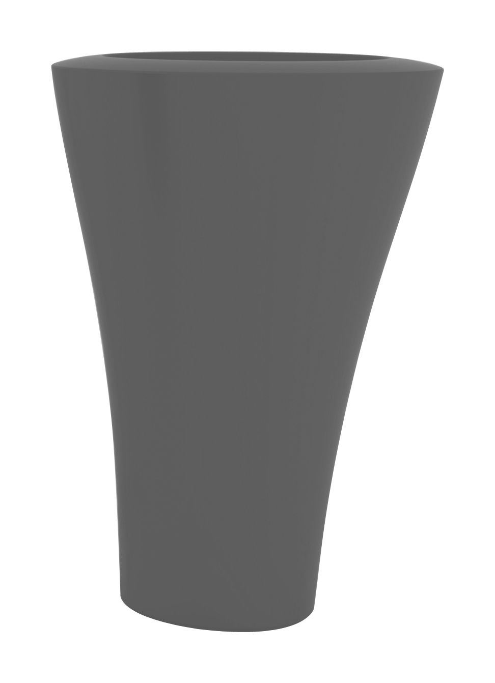 Outdoor - Pots & Plants - Ming Extra High Flowerpot - H 140 cm by Serralunga - Anthracite - Polythene