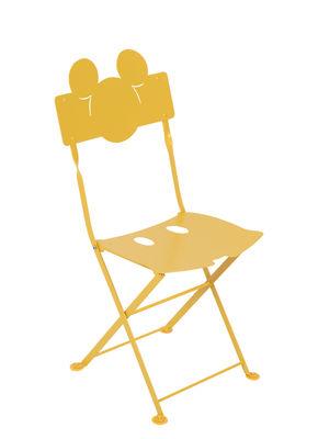 Möbel - Möbel für Kinder - Bistro enfant Mickey Klappstuhl / Metall - Fermob - Honig - Behandelter Stahl (Kataphoresebehandlung
