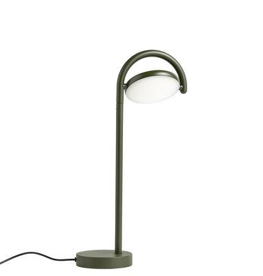 Lampe de table Marselis / Diffuseur orientable - H 38 cm - Hay vert kaki en métal