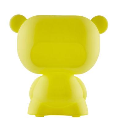 Lampe de table Pure / H 45 cm - Slide jaune en matière plastique