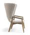 Knit Lounge Sessel / Hohe Rückenlehne - Synthetikfaden - Ethimo