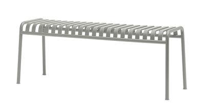 Arredamento - Panchine - Panca Palissade / L 120 cm - R & E Bouroullec - Hay - Grigio chiaro - In acciaio elettro- zincato, Peinture époxy