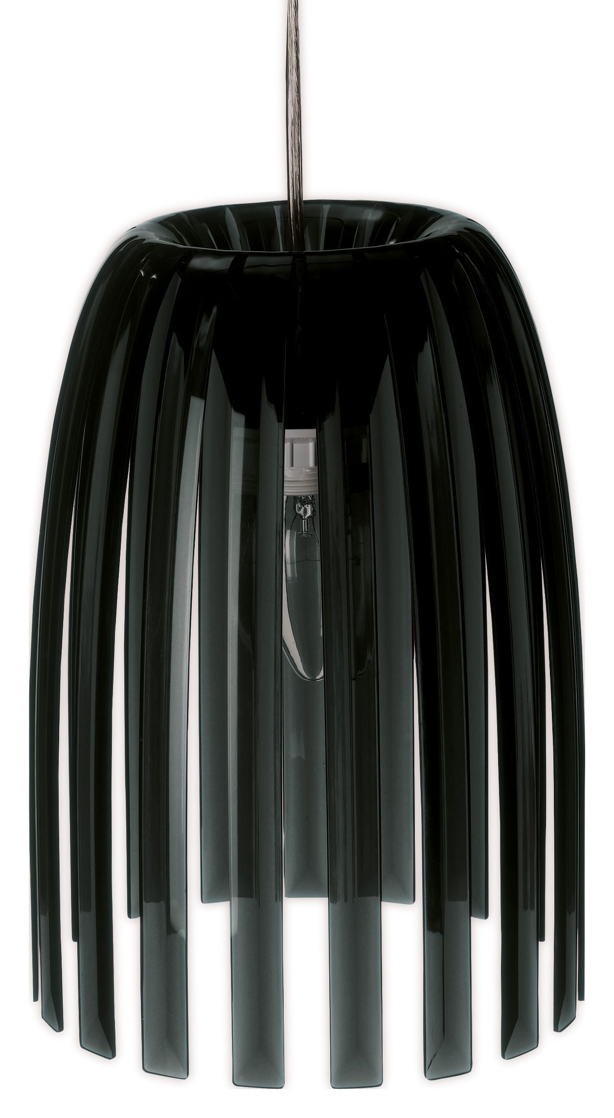 Lighting - Pendant Lighting - Josephine Small Pendant - / Ø 21,8 cm x H 27,6 cm by Koziol - Solid black - Polystirol