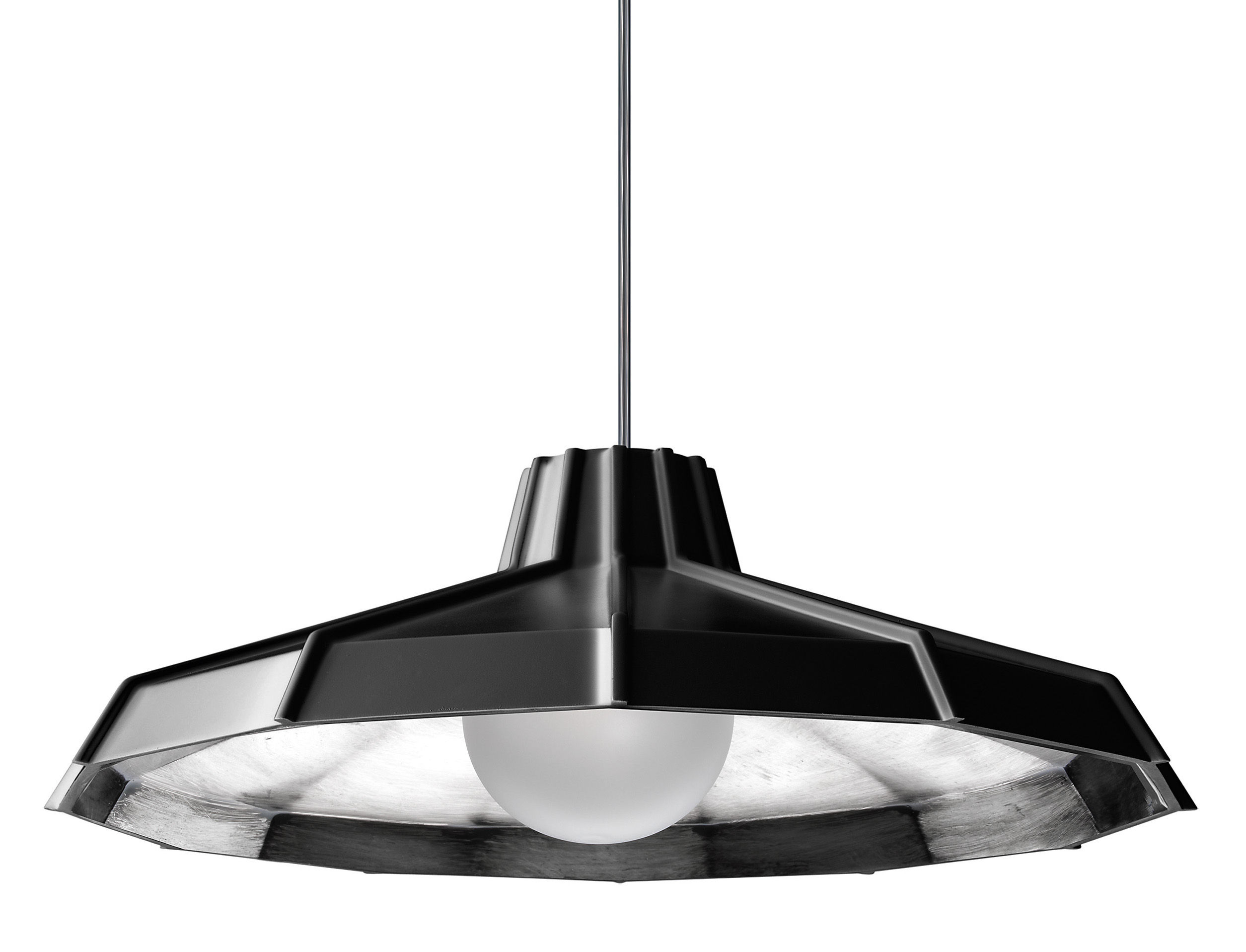 Lighting - Pendant Lighting - Mysterio Pendant - Ø 31 cm by Diesel with Foscarini - Black / Silver - Polycarbonate