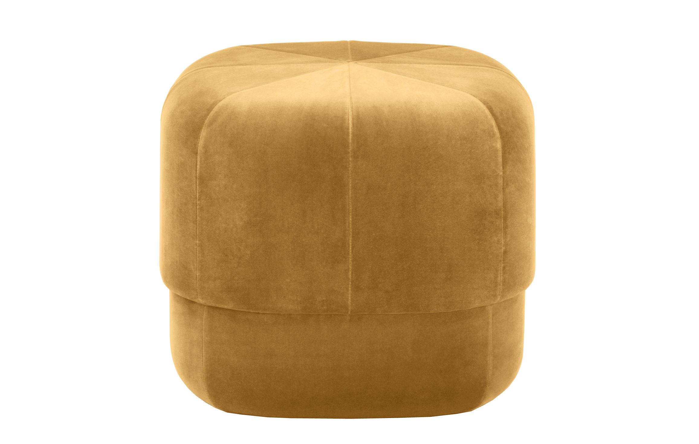 pouf circus small 46 cm velours jaune moutarde normann copenhagen. Black Bedroom Furniture Sets. Home Design Ideas