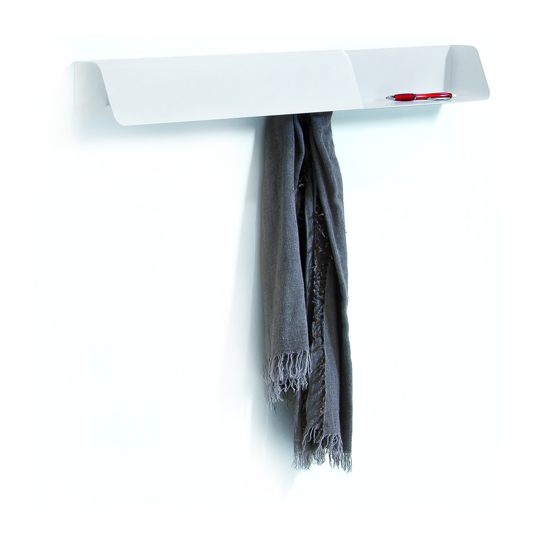 Möbel - Regale und Bücherregale - Dock Regal / Garderobe + Memoboard - B-LINE - Weiß - bemalter Stahl