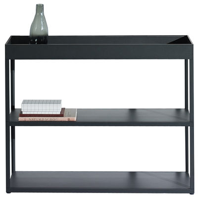 Möbel - Regale und Bücherregale - New  Order Regal / L 100 x H 79,5 cm - Hay - Graphitschwarz - bemaltes Aluminium