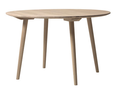 Furniture - Dining Tables - In Between SK4 Round table - Ø 120 cm - Oak by &tradition - White oak - Oiled bleached oak