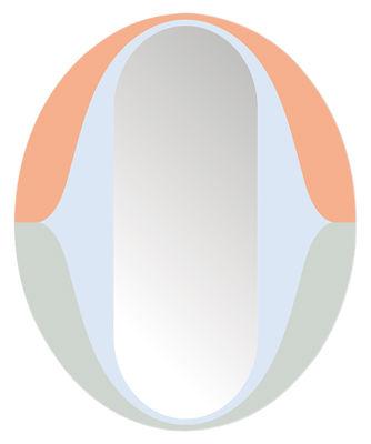 Dekoration - Spiegel - The O Selbstklebende Spiegel / 48 x 39 cm - Domestic - The O / mehrfarbig - Kunststoff
