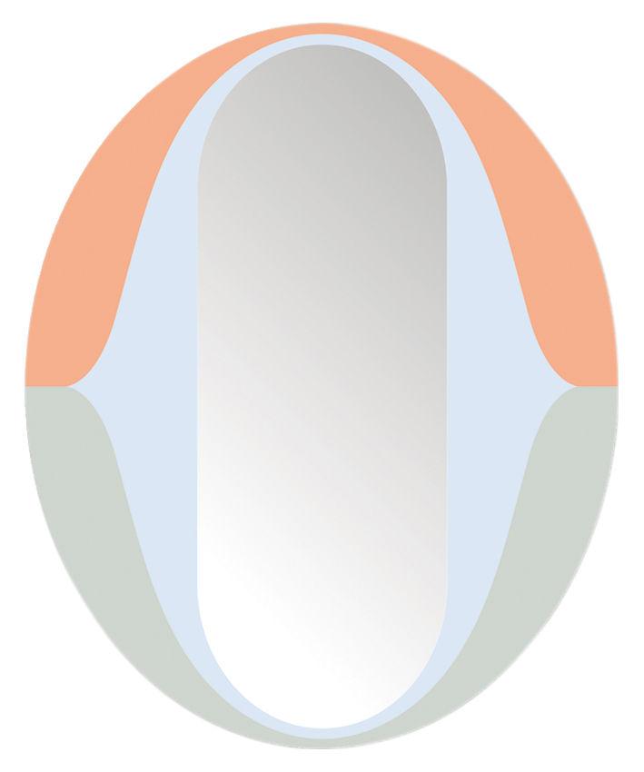Decoration - Mirrors - The O self-sticking mirror - 48 x 39 cm by Domestic - The O / Multicolored - Plastic