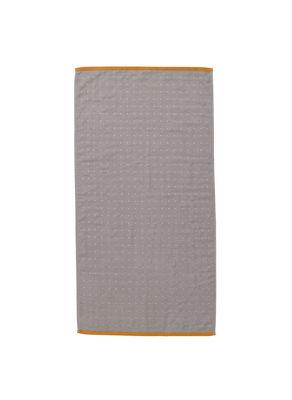 Serviette de toilette Sento / Organic - 100 x 50 cm - Ferm Living orange,gris en tissu