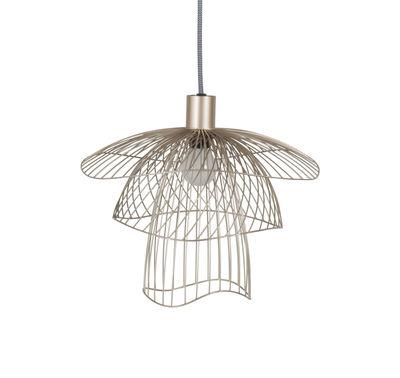 Illuminazione - Lampadari - Sospensione Papillon XS - / Ø 35 cm di Forestier - Champagne - Acciaio termolaccato