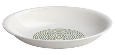 Tableware - Plates - Acquerello Soup plate - Ø 22 cm by A di Alessi - White / light green decoration - Bone china