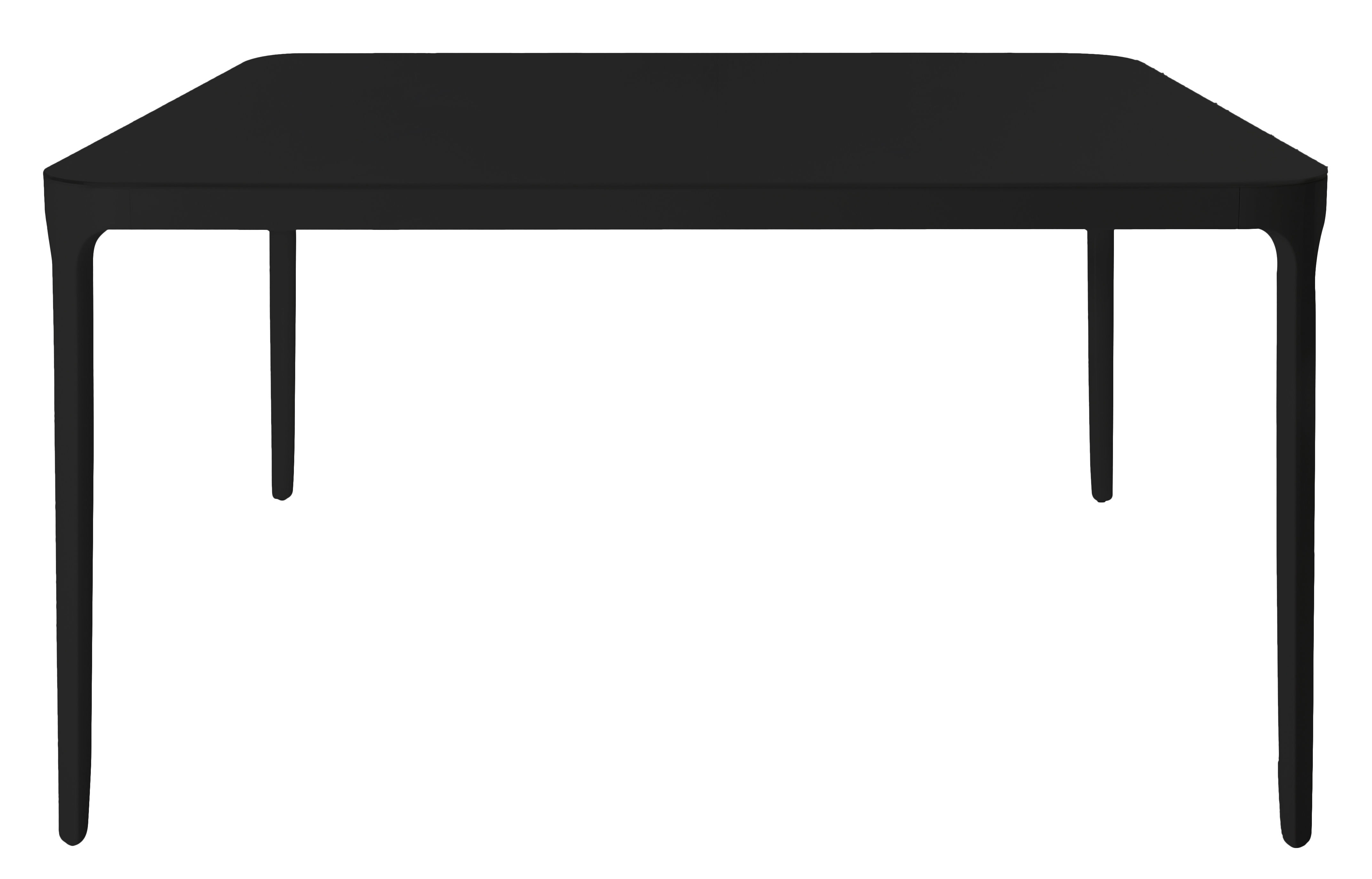 Furniture - Dining Tables - Vanity Square table - Square - 90 x 90 cm by Magis - 90 x 90 cm / Black - Varnished aluminium, Varnished glass