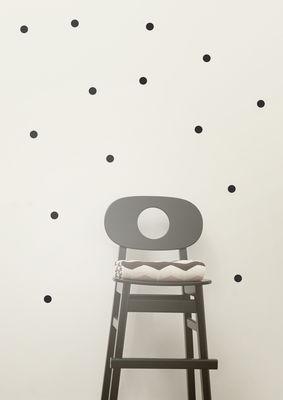 Déco - Stickers, papiers peints & posters - Sticker Mini Dots / Set 54 pois - Ferm Living - Noir - Vinyle
