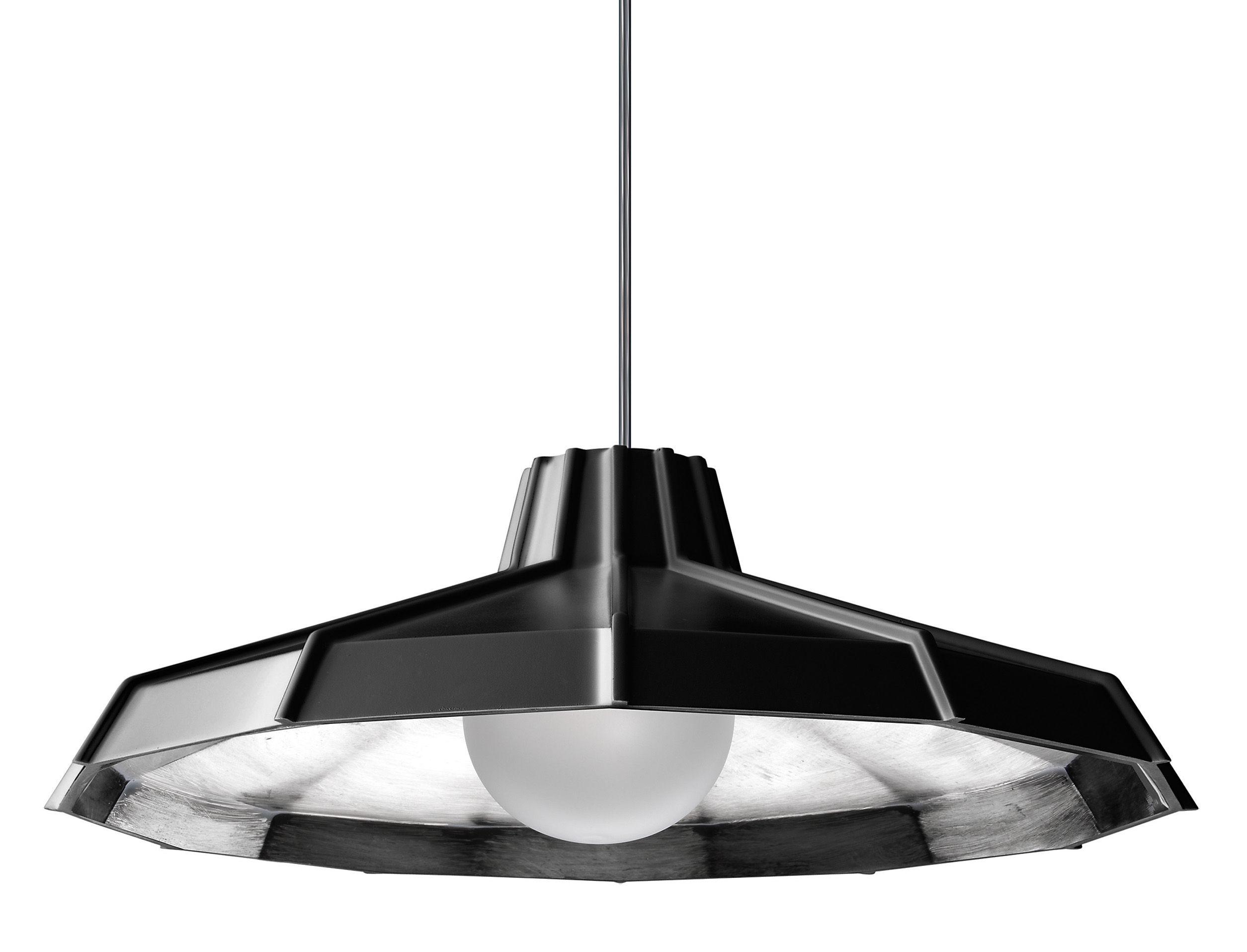 Luminaire - Suspensions - Suspension Mysterio Ø 31 cm - Diesel with Foscarini - Noir / Argent - Polycarbonate