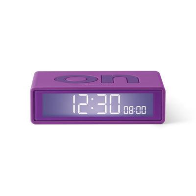 Image of Sveglia LCD Flip + Travel - / Mini Sveglia reversibile da viaggio di Lexon - Viola - Materiale plastico