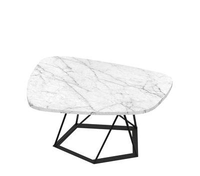 Table basse Poliedrik / Marbre - L 87 cm - Zeus blanc,noir cuivré en métal