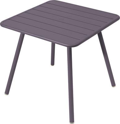 Table Luxembourg / 80 x 80 cm - 4 pieds - Fermob prune en métal