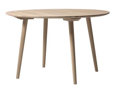 Mobilier - Tables - Table In Between / Ø 120 cm - Chêne - &tradition - Chêne blanchi - Chêne huilé blanchi