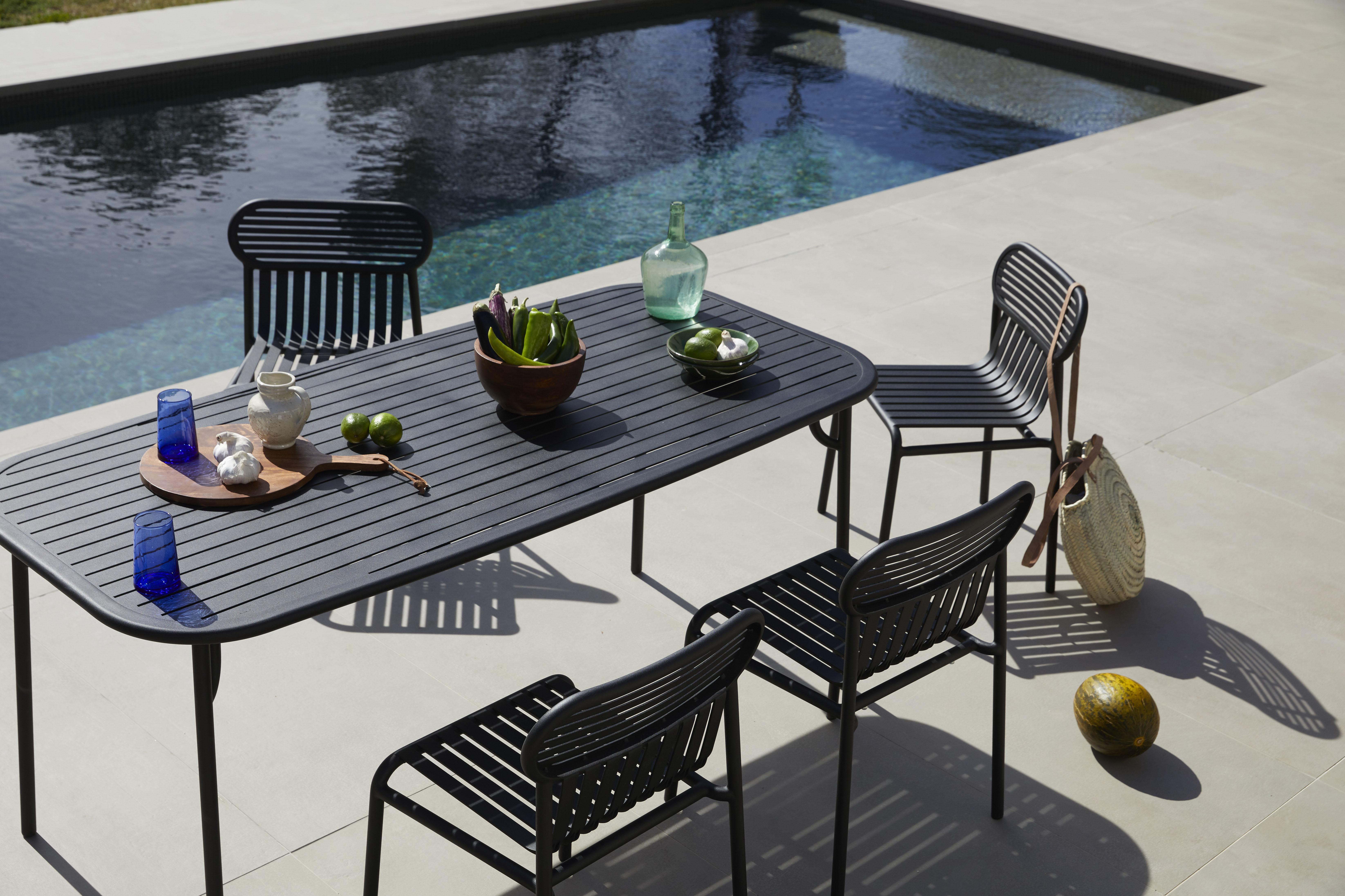 Table rectangulaire Week-end / 180 x 85 cm - Aluminium - Petite Friture