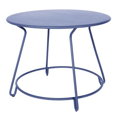 Jardin - Tables de jardin - Table ronde Huggy / Ø 100 cm - Aluminium - Maiori - Bleu aube - Aluminium laqué époxy