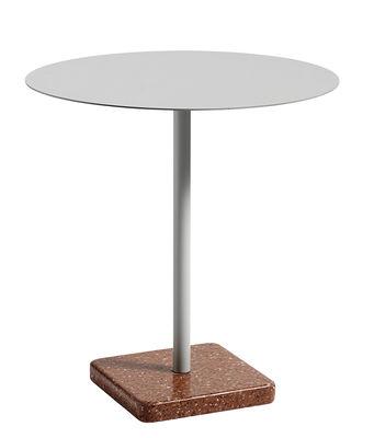 Table ronde Terrazzo / Ø 70 cm - Hay rouge,gris clair en métal