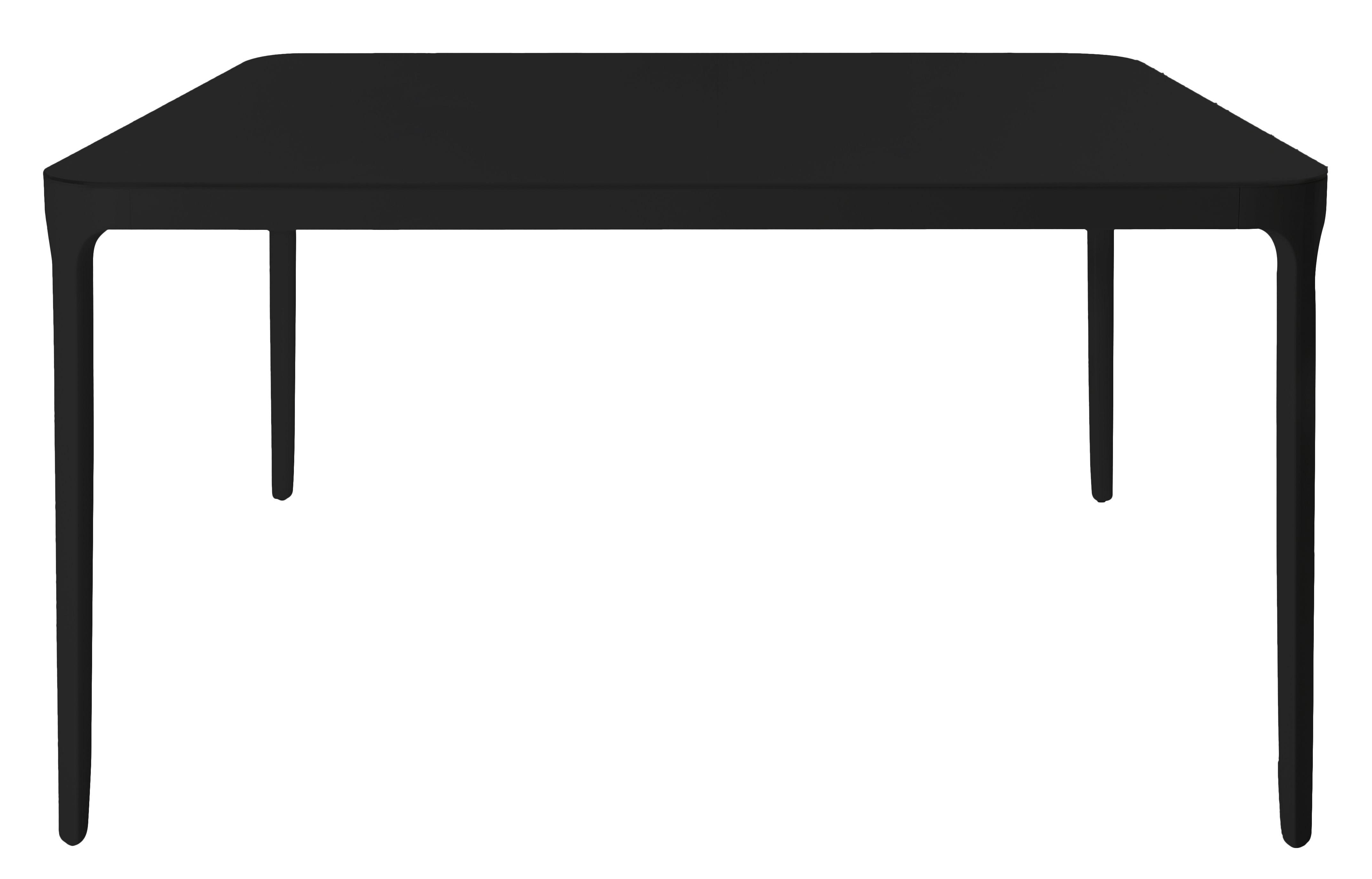 Mobilier - Tables - Table Vanity / 90 x 90 cm - Magis - Noir - 90 x 90 cm - Aluminium verni, Verre verni