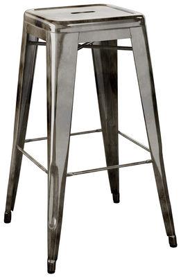 Tabouret de bar H / H 75 cm - Acier brut - Pour l'intérieur - Tolix acier vernis janvier 1 (foncé) en métal