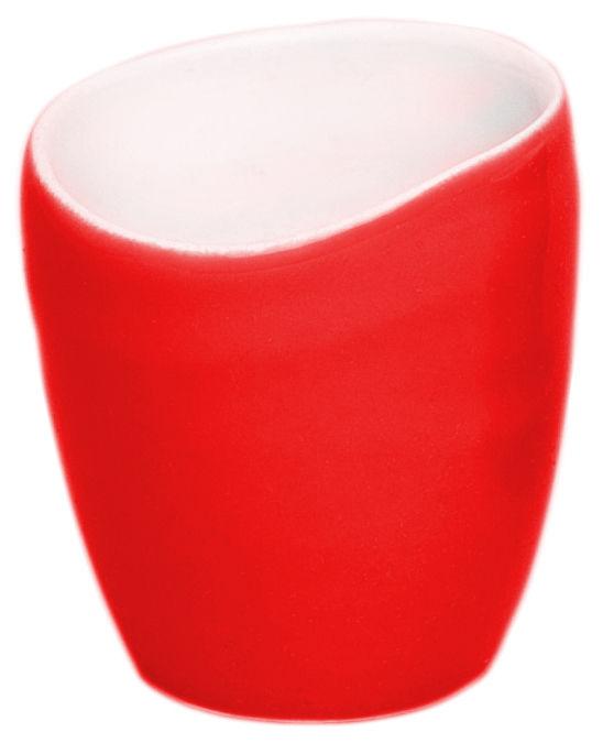 Arts de la table - Tasses et mugs - Tasse à café Bazelaire / Fait main - Sentou Edition - Rouge - Faïence émaillée