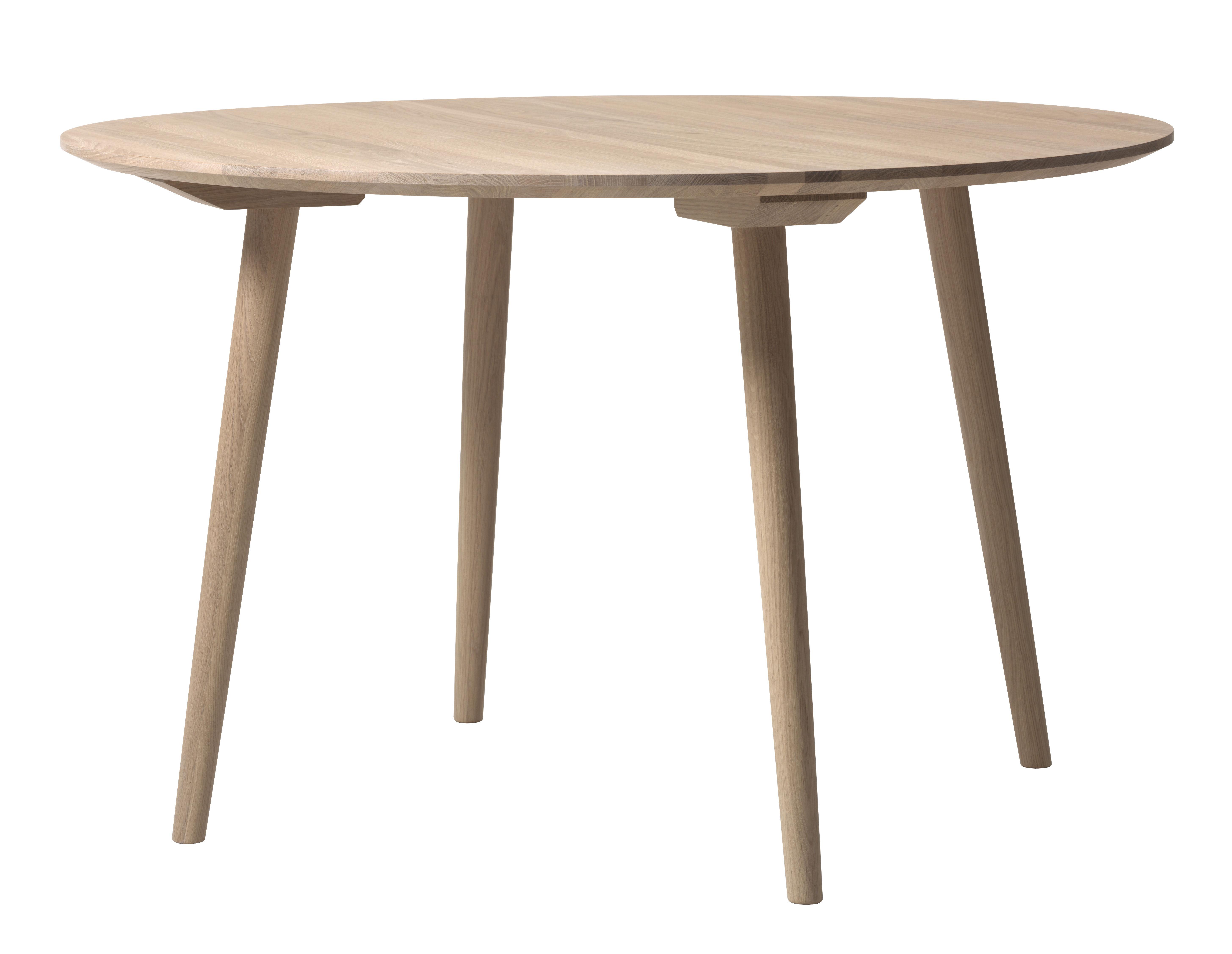 Arredamento - Tavoli - Tavolo rotondo In Between - / Ø 120 cm - Rovere di &tradition - Rovere sbiancato - Chêne huilé blanchi