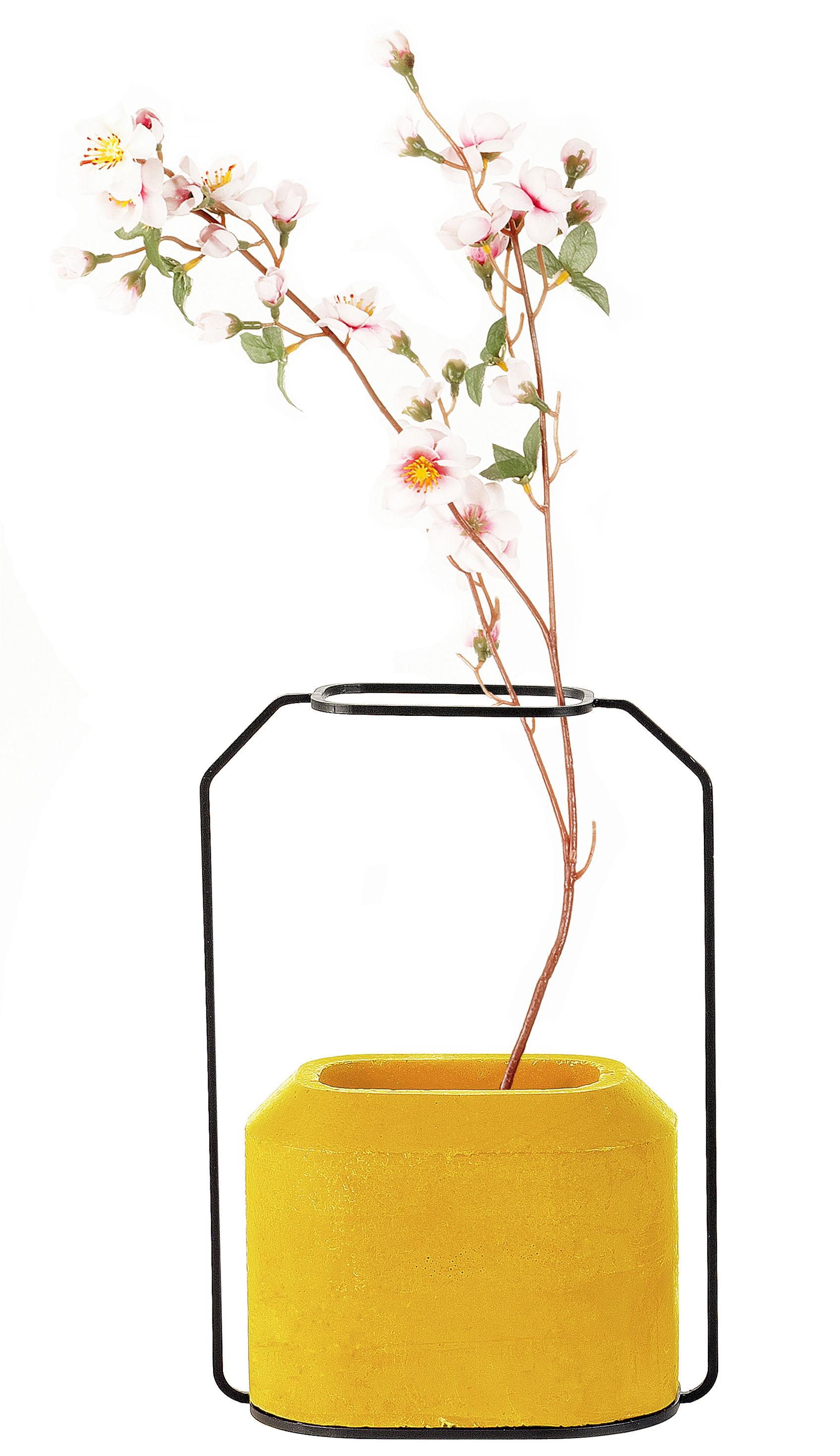 Déco - Vases - Vase Weight B / L 20 x H 28 cm - Spécimen Editions - Jaune - Acier, Béton