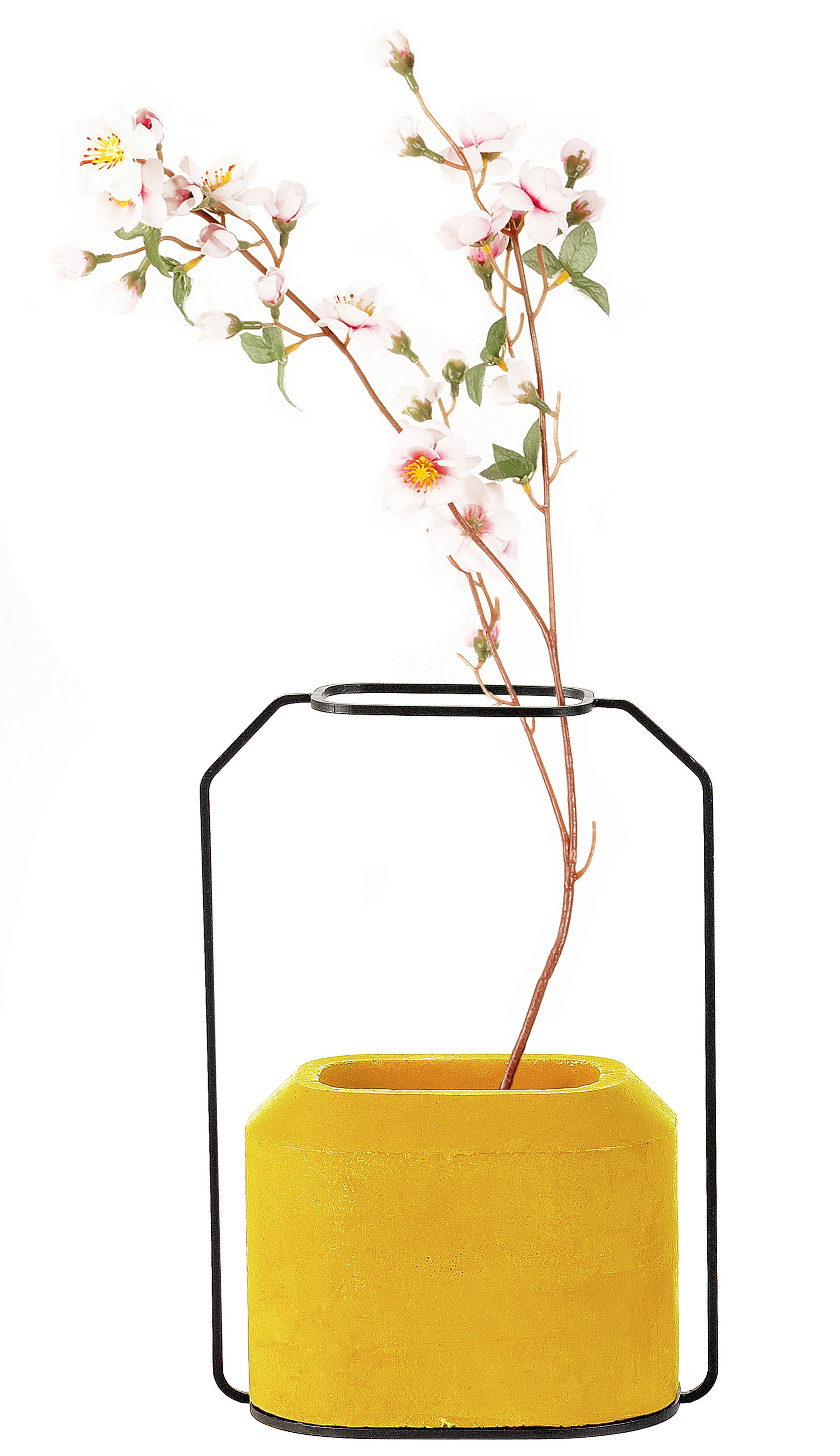 Decoration - Vases - Weight B Vase by Spécimen Editions - Yellow - Concrete, Steel