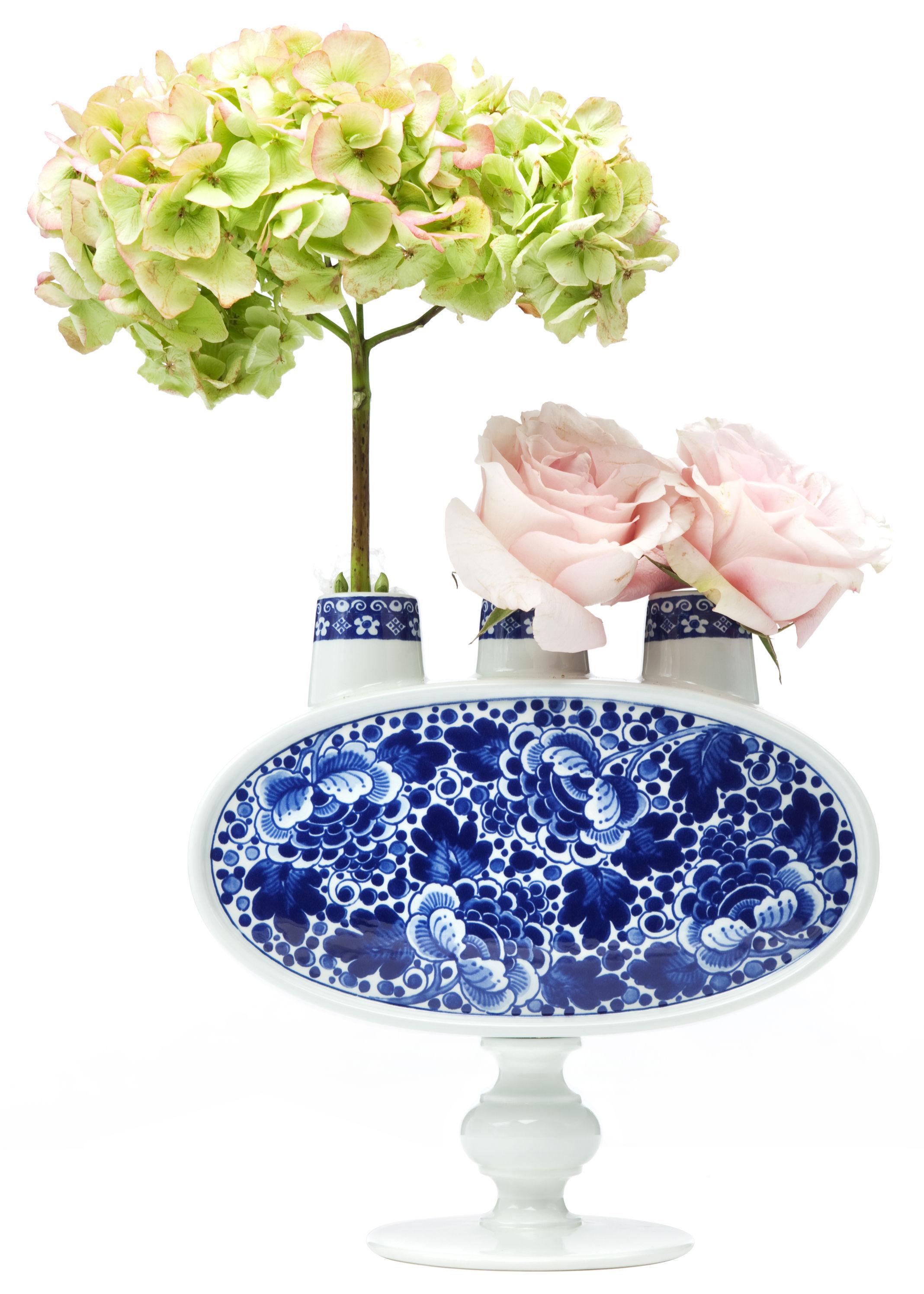Interni - Vasi - Vaso Delft Blue 3 di Moooi - Blanc & bleu - Porcellana