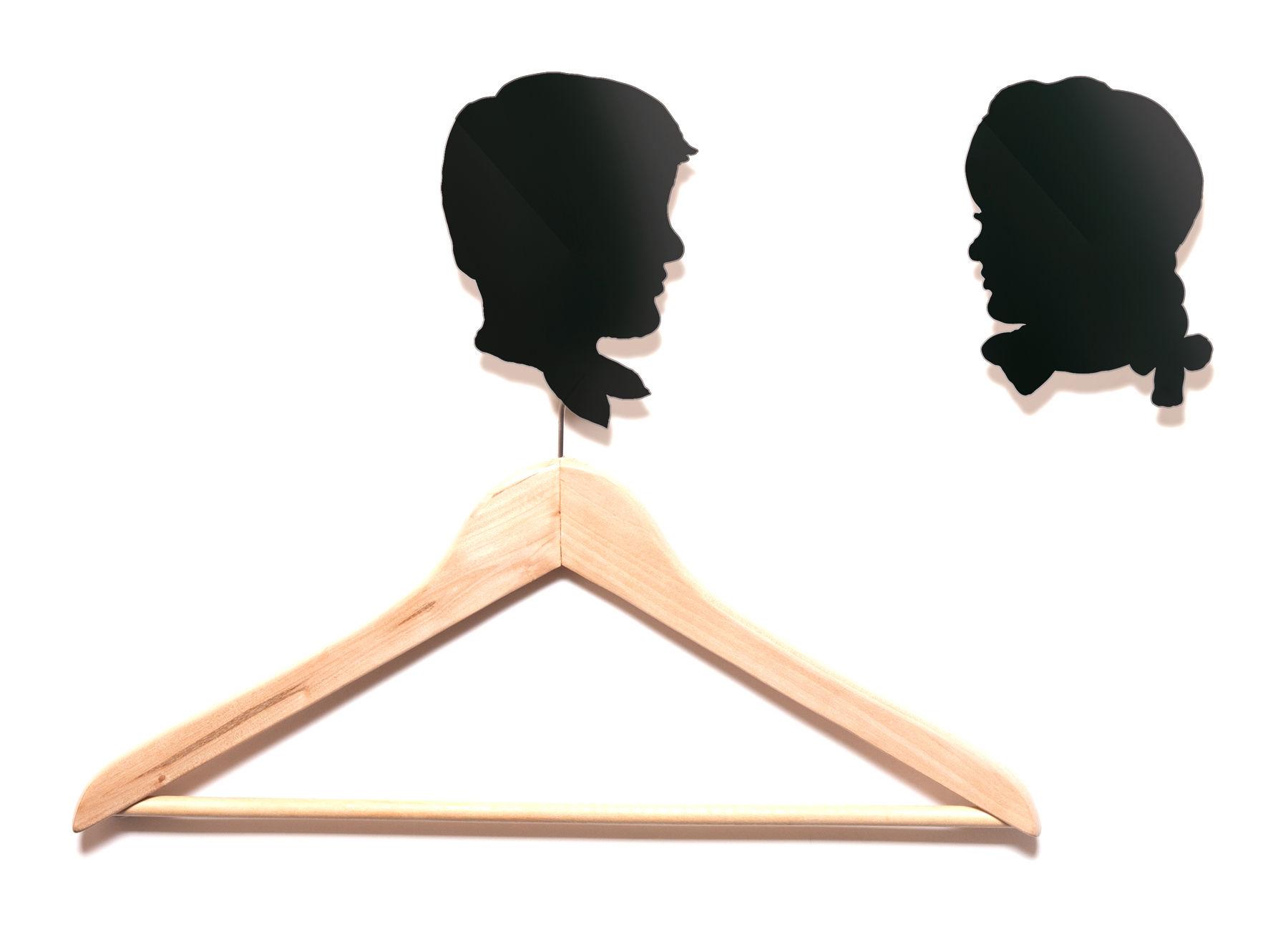Möbel - Garderoben und Kleiderhaken - Les enfants Wandhaken 2er Set - Domestic - Schwarz - Kinder - lackiertes Aluminium