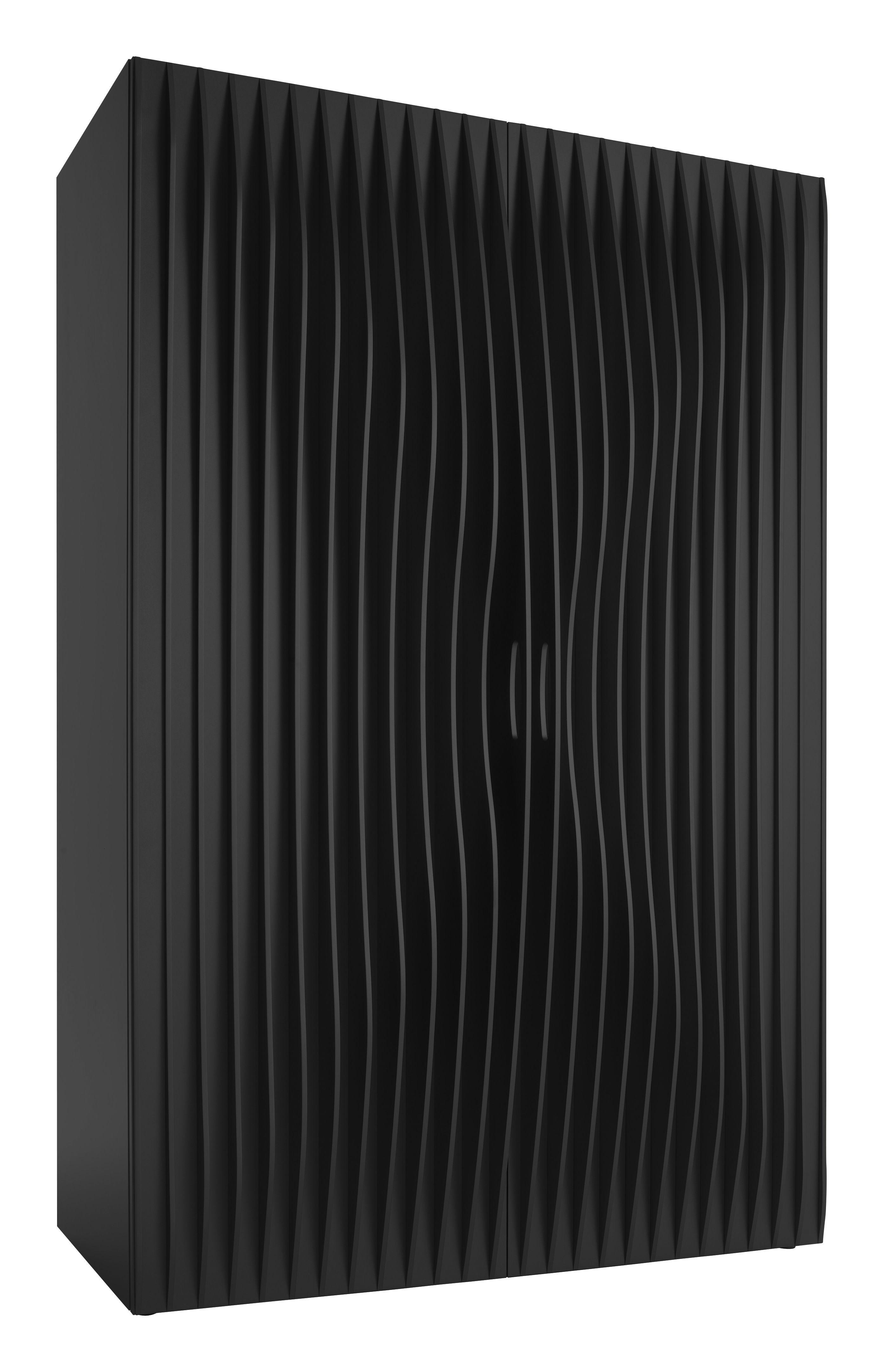 Furniture - Dressers & Storage Units - Blend Wardrobe - 2 doors by Horm - Black - MDF
