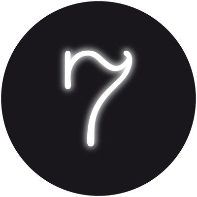 Applique avec prise Neon Art / Chiffre  7 - Seletti blanc en verre
