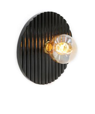 Illuminazione - Lampade da parete - Applique Riviera - / Legno - Ø 25 cm di Maison Sarah Lavoine - ravanello nero - Rattan laccato