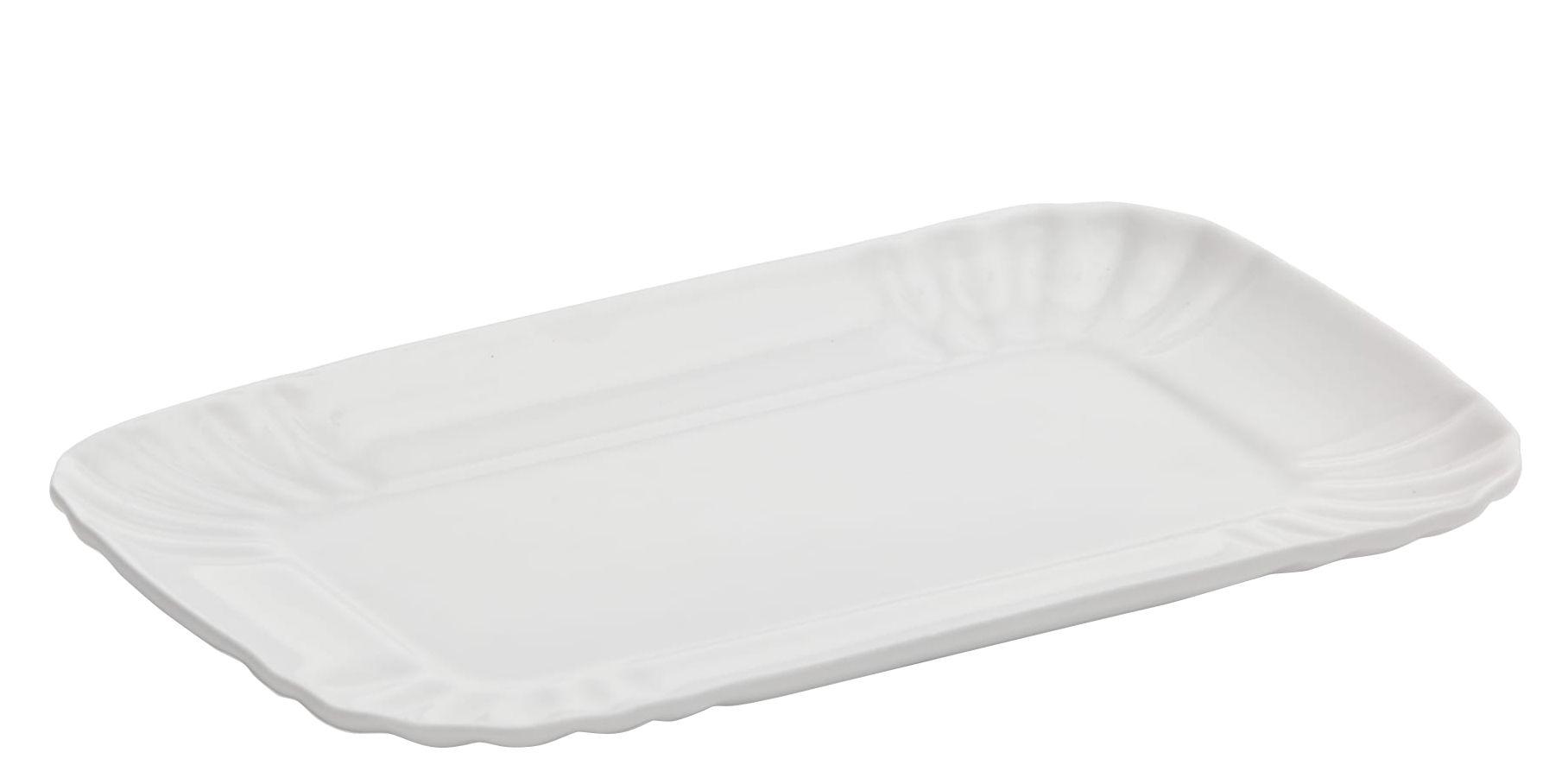 Arts de la table - Assiettes - Assiette à dessert Estetico Quotidiano / Small - 13 x 20 cm - Seletti - Small / 13 x 20 cm - Porcelaine