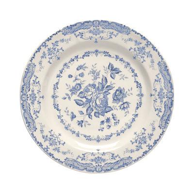 Arts de la table - Assiettes - Assiette à dessert Rose / Ø 20,7 cm - Bitossi Home - Bleu - Céramique Ironstone
