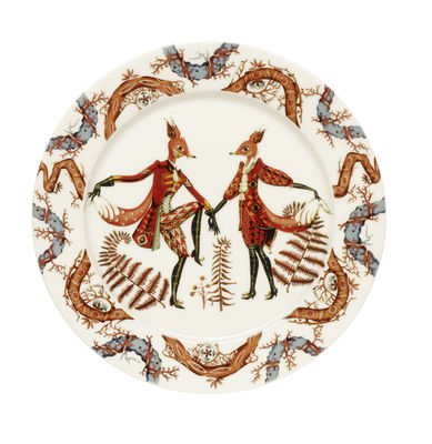 Assiette Tanssi / Ø 27 cm - Iittala multicolore en céramique