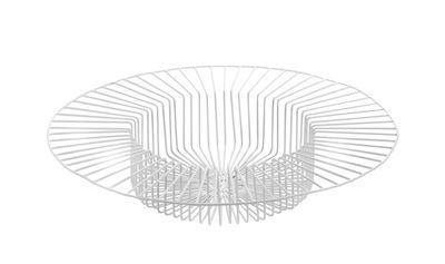 Decoration - Centrepieces & Centrepiece Bowls - Paglieta Basket - Ø 45 x H 8 cm by Serax - White - Lacquered wire